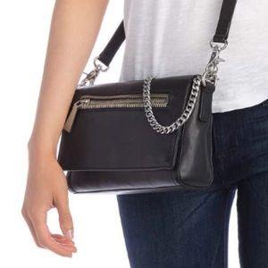 FRYE Authentic Lena Chain Leather Crossbody Bag